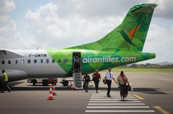descente avion air antilles