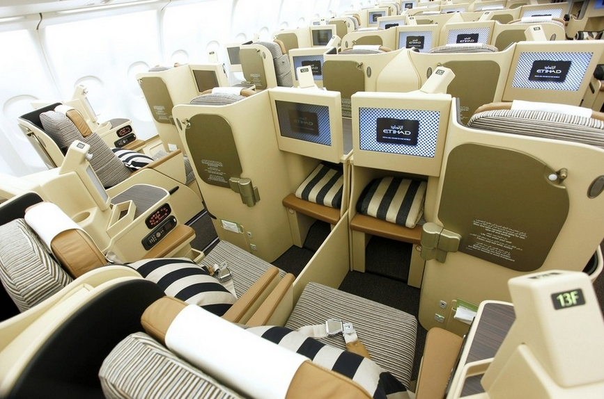 classe affaire etihad airways