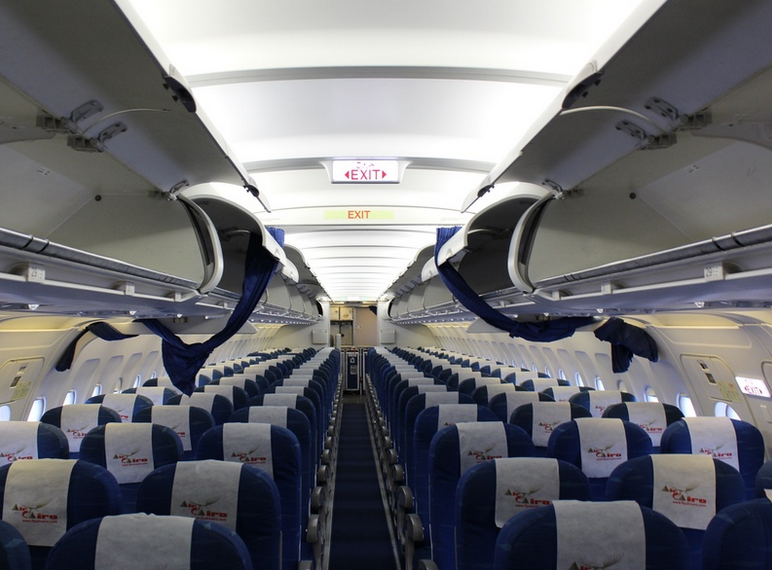 intérieur avion air cairo