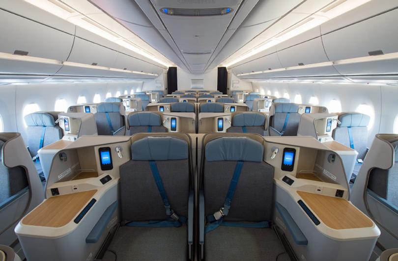 intérieur avion air mauritius