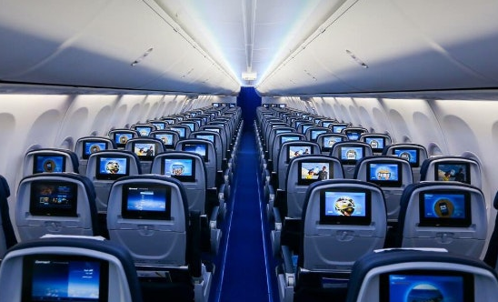 intérieur avion egypt air