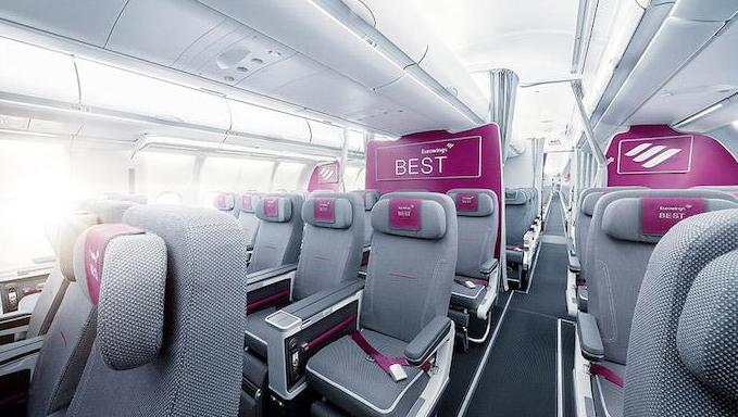 intérieur avion eurowings