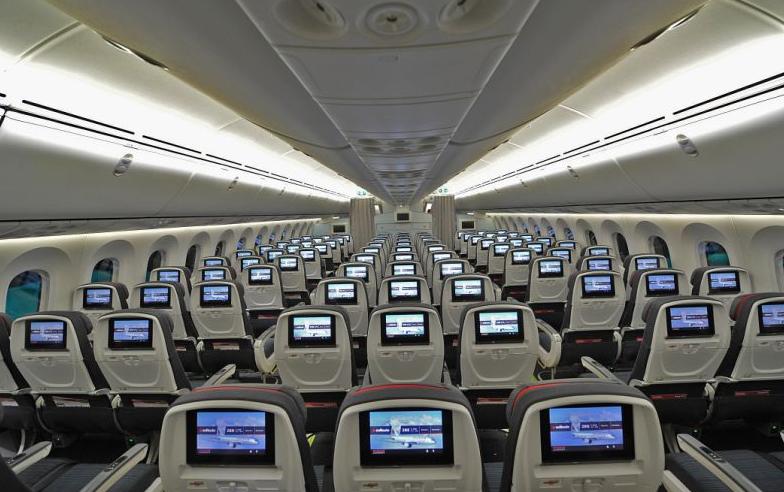 intérieur cabine west jet