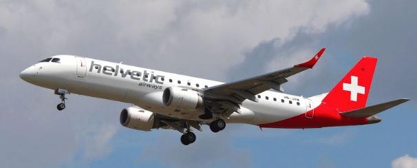 Avion de la compagnie Helvetic